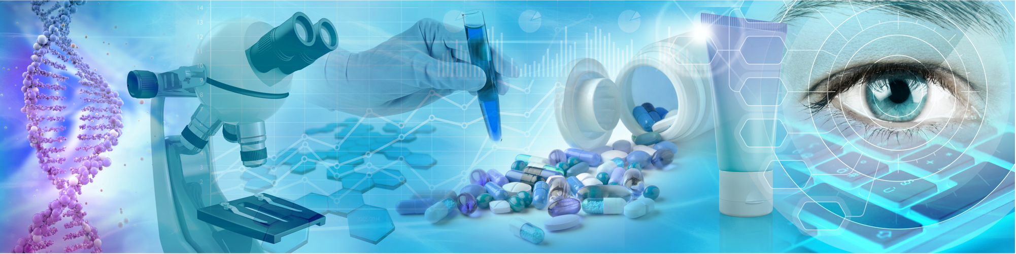 pharmaceuticals and life sciences banner industry image